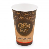 Papierový pohár ,,Coffee to go,, 510 ml, XL (O 90 mm) [50 ks]