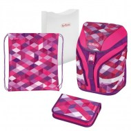 ddeb7dcc97 Školský batoh Herlitz Motion Kocka ružový sada