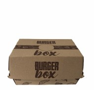 Bigfoodbox / Burger Box  Double /box s extra priečinkom / ks 200x130x110 s potlačou (50ks)